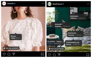 Stratégie digitale Instagram shopping